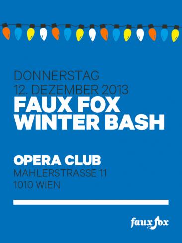 FAUX FOX WINTER BASH